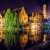Evening in Bruges, Belgium.