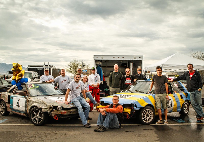 Twin teams with twin twin-engined cars