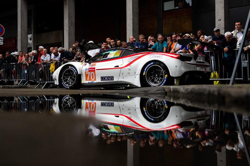 #70 MR Racing / Ferrari 488 GTE - Scrutineering - 24 hours of Le Mans  - Circuit de la Sarthe - Le Mans - France -