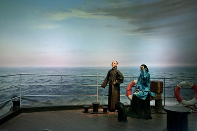 Diorama of Sun Yat-sen with his mother aboard ship to Honolulu, 1911 Revolution Museum, Wuhan
