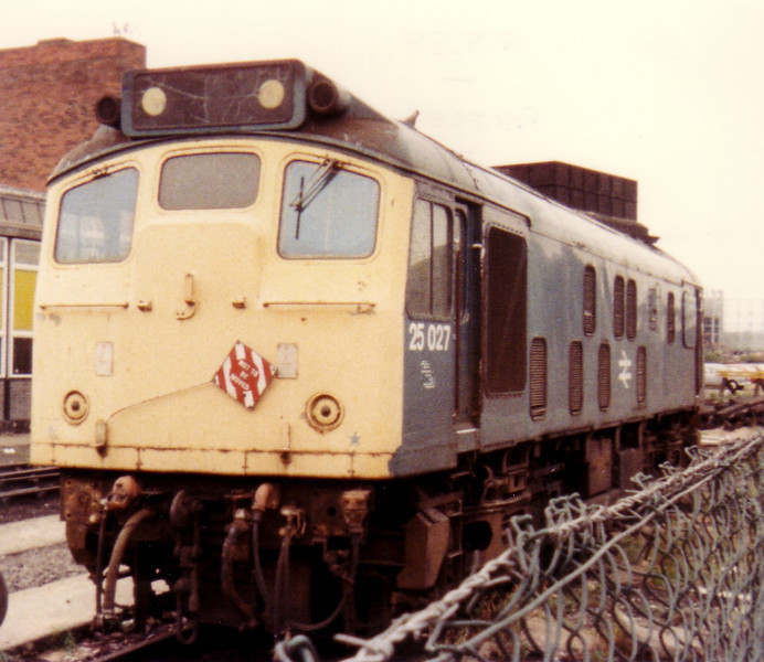 Withdrawn 25027 at Saltley TMD 8th September 1984