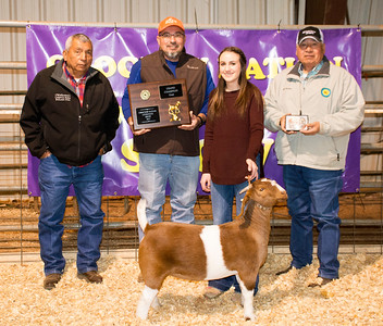 Jaycee Watkins, Allen FFA, Grand Champion Doe Maroon sweater