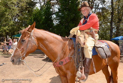 """Capt. Luther Sage Kelly"" portrayed by Don Criswell of Paradise during the 25th annual Days of Living History   at the Gold Nugget Museum in Paradise, Calif. Saturday, Sept. 8, 2018.  (Bill Husa -- Enterprise-Record)"