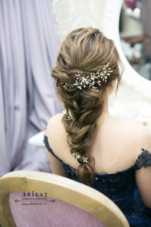 時尚編髮新娘造型,新娘秘書,新秘,新娘盤髮,台北新秘推薦,ariesy