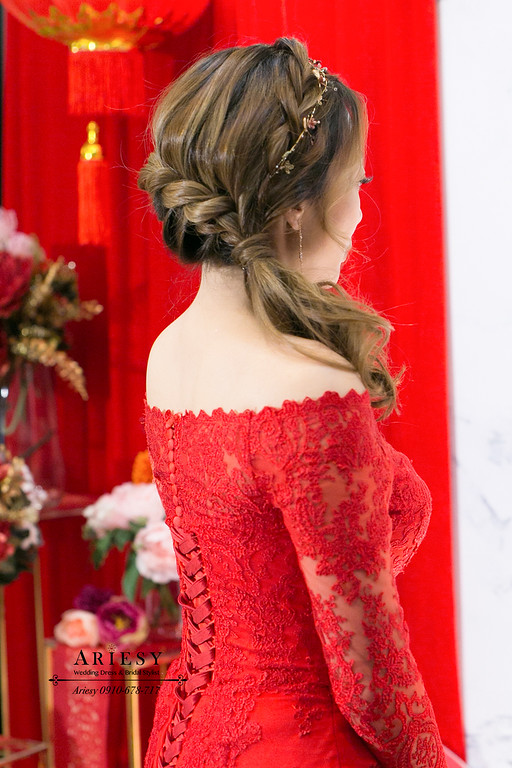 新娘秘書,新秘,送客新娘造型,新娘盤髮,台北新秘推薦,ariesy