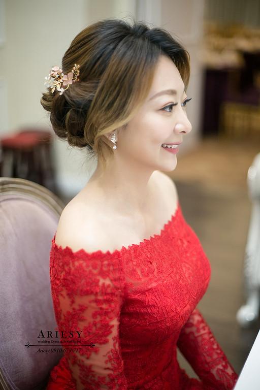 新娘秘書,新秘,文定新娘造型,新娘盤髮,台北新秘推薦,ariesy