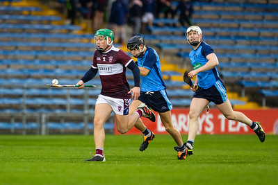 Borris-Ileigh's James Devaney races away from Nenagh Eire Og's Sean Phelan and Conor Ryan during the Tipperary Senior Hurling Championship group 4 in Semple Stadium, Thurles.
