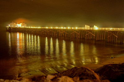 HDR Socal Malibu Landscapes: The Malibu Pier at Night!