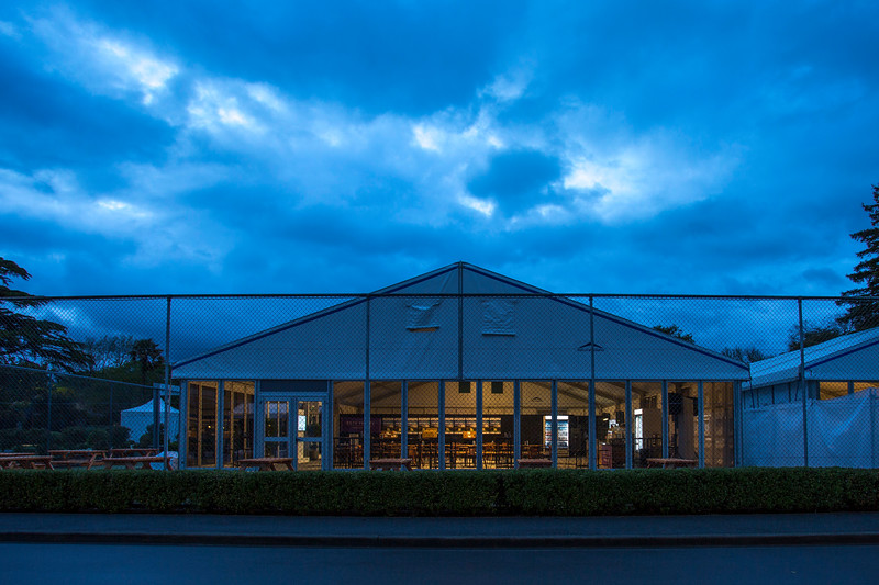 Early morning view of the Refeshments marquee on 26 October 2017 before  the 1st day of competition in the Asia-Pacific Amateur Championship tournament 2017 held at Royal Wellington Golf Club, in Heretaunga, Upper Hutt, New Zealand from 26 - 29 October 2017. Copyright John Mathews 2017.   www.megasportmedia.co.nz