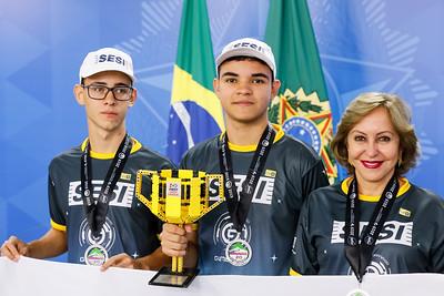 28/08/2019 Encontro com o Ministro da Ciência, Tecnologia, Marcos Pontes e os estudantes do Serviço Social da Indústria (SESI) de Goiânia