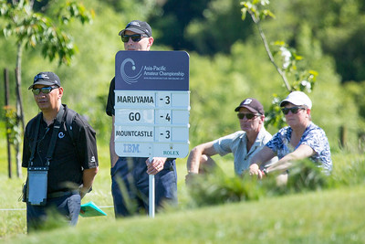 Day 3 of the Asia-Pacific Amateur Championship tournament 2017 held at Royal Wellington Golf Club, in Heretaunga, Upper Hutt, New Zealand from 26 - 29 October 2017. Copyright John Mathews 2017.   www.megasportmedia.co.nz