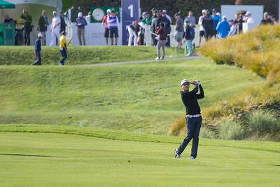 Action on the 1st hole on Day 3 of the Asia-Pacific Amateur Championship tournament 2017 held at Royal Wellington Golf Club, in Heretaunga, Upper Hutt, New Zealand from 26 - 29 October 2017. Copyright John Mathews 2017.   www.megasportmedia.co.nz
