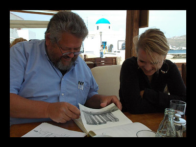 Cafe Sketch Crit on Mykonos