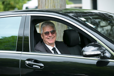 Mike Durant waiting to drive Masters Chairman Ridley to the airport at the completion of the final day of the Asia-Pacific Amateur Championship tournament 2017 held at Royal Wellington Golf Club, in Heretaunga, Upper Hutt, New Zealand from 26 - 29 October 2017. Copyright John Mathews 2017.   www.megasportmedia.co.nz