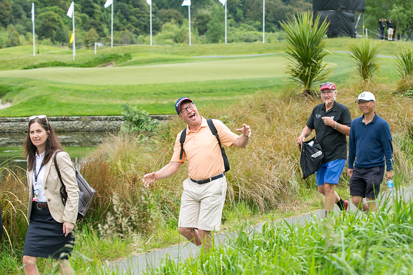 Gary Lewis moving from the 4th green to the next tee on the  final day of the Asia-Pacific Amateur Championship tournament 2017 held at Royal Wellington Golf Club, in Heretaunga, Upper Hutt, New Zealand from 26 - 29 October 2017. Copyright John Mathews 2017.   www.megasportmedia.co.nz