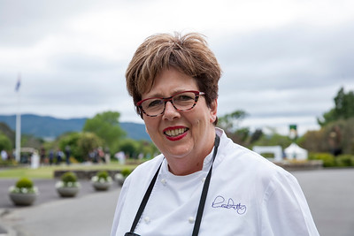 Ruth Pretty from Ruth Pretty Catering who provided all the food for  the Asia-Pacific Amateur Championship tournament 2017 held at Royal Wellington Golf Club, in Heretaunga, Upper Hutt, New Zealand from 26 - 29 October 2017. Copyright John Mathews 2017.   www.megasportmedia.co.nz