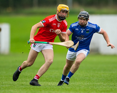 Gortnahoe Glengoole's Fionn Cleary gathers the ball despite Ballina's Paddy Donovan during the 'FBD Insurance' Seamus O'Riain Cup round 1 in Borrisoleigh.