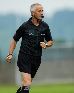 Match referee Paddy Ivors during the 'FBD Insurance' Seamus O'Riain Cup round 1 in Borrisoleigh. .