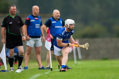 Ballina's Makey Breen takes a sideline cut during the 'FBD Insurance' Seamus O'Riain Cup round 1 in Borrisoleigh.