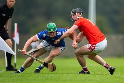 Ballina's David Kelly tries to push past Gortnahoe Glengoole's Ronan Teehan during the 'FBD Insurance' Seamus O'Riain Cup round 1 in Borrisoleigh.2