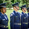 From left, Joanne Njihia, Tarathorn Hong, Peter Tran, and Kunthyliza Leng are members of the Air Force Junior ROTC at Lowell High School and they presented the colors for the Army National Guard 29th Division Post 93 reunion at Ironstone Farm. SUN/Caley McGuane