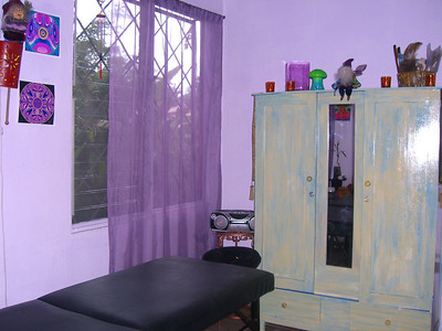 MASSAGE SPACE #2  -  Off our office, you'll find our Massage Space #2 in our WELL-BEING SANCTUARY - looking out onto our BEAUTIFUL tranquil grounds (with EXCELLENT air flow/breeze!!).