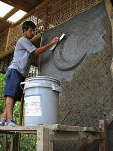 "Many people have asked us, ""wouldn't an earth home just weather away?"", this post is one answer to that question. Lime Plaster Waterproofing is one of the most common manners of keeping your home intact.  Green Home Building: Plastering or waterproofing cob http://www.greenhomebuilding.com/QandA/cob/plastering.htm  A practical guide to rendering and plastering with lime http://www.periodproperty.co.uk/shop/acatalog/plastering_with_lime.html  Lime Plastering a Cob Oven http://www.youtube.com/watch?v=AIUULb014go  Decolime http://store.ecostucco.com/ProductDetails.asp?ProductCode=896035002658  Basic description of other methods. http://en.wikipedia.org/wiki/Earth_sheltering#Waterproofing"