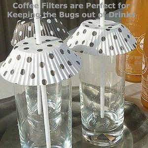 Coffee Filters are Perfect for Keeping the Bugs out of Drinks