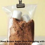 Keep Your Brown Sugar from Clumping with Marshmellows