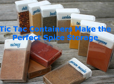 Tic Tac Containers Make the Perfect Spice Storage