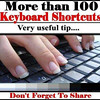 Keyboard Shortcuts (Microsoft Windows)<br /> 1. CTRL+C (Copy)<br /> 2. CTRL+X (Cut)<br /> 3. CTRL+V (Paste)<br /> 4. CTRL+Z (Undo)<br /> 5. DELETE (Delete)<br /> 6. SHIFT+DELETE (Delete the selected item permanently without placing the item in the Recycle Bin)<br /> 7. CTRL while dragging an item (Copy the selected item)<br /> 8. CTRL+SHIFT while dragging an item (Create a shortcut to the selected item)<br /> 9. F2 key (Rename the selected item)<br /> 10. CTRL+RIGHT ARROW (Move the insertion point to the beginning of the next word)<br /> 11. CTRL+LEFT ARROW (Move the insertion point to the beginning of the previous word)<br /> 12. CTRL+DOWN ARROW (Move the insertion point to the beginning of the next paragraph)<br /> 13. CTRL+UP ARROW (Move the insertion point to the beginning of the previous paragraph)<br /> 14. CTRL+SHIFT with any of the arrow keys (Highlight a block of text)<br /> SHIFT with any of the arrow keys (Select more than one item in a window or on the desktop, or select text in a document)<br /> 15. CTRL+A (Select all)<br /> 16. F3 key (Search for a file or a folder)<br /> 17. ALT+ENTER (View the properties for the selected item)<br /> 18. ALT+F4 (Close the active item, or quit the active program)<br /> 19. ALT+ENTER (Display the properties of the selected object)<br /> 20. ALT+SPACEBAR (Open the shortcut menu for the active window)<br /> 21. CTRL+F4 (Close the active document in programs that enable you to have multiple documents opensimultaneously)<br /> 22. ALT+TAB (Switch between the open items)<br /> 23. ALT+ESC (Cycle through items in the order that they had been opened)<br /> 24. F6 key (Cycle through the screen elements in a window or on the desktop)<br /> 25. F4 key (Display the Address bar list in My Computer or Windows Explorer)<br /> 26. SHIFT+F10 (Display the shortcut menu for the selected item)<br /> 27. ALT+SPACEBAR (Display the System menu for the active window)<br /> 28. CTRL+ESC (Display the Start menu)<br /> 29. ALT+Underlined letter in a menu name (Display the corresponding menu) Underlined letter in a command name on an open menu (Perform the corresponding command)<br /> 30. F10 key (Activate the menu bar in the active program)<br /> 31. RIGHT ARROW (Open the next menu to the right, or open a submenu)<br /> 32. LEFT ARROW (Open the next menu to the left, or close a submenu)<br /> 33. F5 key (Update the active window)<br /> 34. BACKSPACE (View the folder onelevel up in My Computer or Windows Explorer)<br /> 35. ESC (Cancel the current task)<br /> 36. SHIFT when you insert a CD-ROMinto the CD-ROM drive (Prevent the CD-ROM from automatically playing)<br /> Dialog Box - Keyboard Shortcuts<br /> 1. CTRL+TAB (Move forward through the tabs)<br /> 2. CTRL+SHIFT+TAB (Move backward through the tabs)<br /> 3. TAB (Move forward through the options)<br /> 4. SHIFT+TAB (Move backward through the options)<br /> 5. ALT+Underlined letter (Perform the corresponding command or select the corresponding option)<br /> 6. ENTER (Perform the command for the active option or button)<br /> 7. SPACEBAR (Select or clear the check box if the active option is a check box)<br /> 8. Arrow keys (Select a button if the active option is a group of option buttons)<br /> 9. F1 key (Display Help)<br /> 10. F4 key (Display the items in the active list)<br /> 11. BACKSPACE (Open a folder one level up if a folder is selected in the Save As or Open dialog box)<br /> <br /> Microsoft Natural Keyboard Shortcuts<br /> 1. Windows Logo (Display or hide the Start menu)<br /> 2. Windows Logo+BREAK (Display the System Properties dialog box)<br /> 3. Windows Logo+D (Display the desktop)<br /> 4. Windows Logo+M (Minimize all of the windows)<br /> 5. Windows Logo+SHIFT+M (Restorethe minimized windows)<br /> 6. Windows Logo+E (Open My Computer)<br /> 7. Windows Logo+F (Search for a file or a folder)<br /> 8. CTRL+Windows Logo+F (Search for computers)<br /> 9. Windows Logo+F1 (Display Windows Help)<br /> 10. Windows Logo+ L (Lock the keyboard)<br /> 11. Windows Logo+R (Open the Run dialog box)<br /> 12. Windows Logo+U (Open Utility Manager)<br /> 13. Accessibility Keyboard Shortcuts<br /> 14. Right SHIFT for eight seconds (Switch FilterKeys either on or off)<br /> 15. Left ALT+left SHIFT+PRINT SCREEN (Switch High Contrast either on or off)<br /> 16. Left ALT+left SHIFT+NUM LOCK (Switch the MouseKeys either on or off)<br /> 17. SHIFT five times (Switch the StickyKeys either on or off)<br /> 18. NUM LOCK for five seconds (Switch the ToggleKeys either on or off)<br /> 19. Windows Logo +U (Open Utility Manager)<br /> 20. Windows Explorer Keyboard Shortcuts<br /> 21. END (Display the bottom of the active window)<br /> 22. HOME (Display the top of the active window)<br /> 23. NUM LOCK+Asterisk sign (*) (Display all of the subfolders that are under the selected folder)<br /> 24. NUM LOCK+Plus sign (+) (Display the contents of the selected folder)<br /> <br /> MMC Console keyboard shortcuts<br /> <br /> 1. SHIFT+F10 (Display the Action shortcut menu for the selected item)<br /> 2. F1 key (Open the Help topic, if any, for the selected item)<br /> 3. F5 key (Update the content of all console windows)<br /> 4. CTRL+F10 (Maximize the active console window)<br /> 5. CTRL+F5 (Restore the active console window)<br /> 6. ALT+ENTER (Display the Properties dialog box, if any, for theselected item)<br /> 7. F2 key (Rename the selected item)<br /> 8. CTRL+F4 (Close the active console window. When a console has only one console window, this shortcut closes the console)<br /> <br /> Remote Desktop Connection Navigation<br /> 1. CTRL+ALT+END (Open the Microsoft Windows NT Security dialog box)<br /> 2. ALT+PAGE UP (Switch between programs from left to right)<br /> 3. ALT+PAGE DOWN (Switch between programs from right to left)<br /> 4. ALT+INSERT (Cycle through the programs in most recently used order)<br /> 5. ALT+HOME (Display the Start menu)<br /> 6. CTRL+ALT+BREAK (Switch the client computer between a window and a full screen)<br /> 7. ALT+DELETE (Display the Windows menu)<br /> 8. CTRL+ALT+Minus sign (-) (Place a snapshot of the active window in the client on the Terminal server clipboard and provide the same functionality as pressing PRINT SCREEN on a local computer.)<br /> 9. CTRL+ALT+Plus sign (+) (Place asnapshot of the entire client window area on the Terminal server clipboardand provide the same functionality aspressing ALT+PRINT SCREEN on a local computer.)<br /> <br /> Microsoft Internet Explorer Keyboard Shortcuts<br /> 1. CTRL+B (Open the Organize Favorites dialog box)<br /> 2. CTRL+E (Open the Search bar)<br /> 3. CTRL+F (Start the Find utility)<br /> 4. CTRL+H (Open the History bar)<br /> 5. CTRL+I (Open the Favorites bar)<br /> 6. CTRL+L (Open the Open dialog box)<br /> 7. CTRL+N (Start another instance of the browser with the same Web address)<br /> 8. CTRL+O (Open the Open dialog box,the same as CTRL+L)<br /> 9. CTRL+P (Open the Print dialog box)<br /> 10. CTRL+R (Update the current Web page)<br /> 11. CTRL+W (Close the current window)