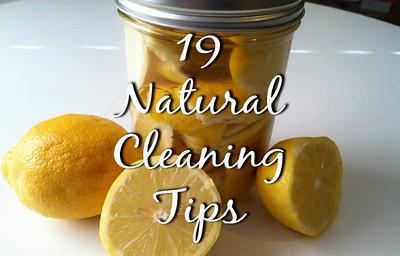 19 NATURAL CLEANING TIPS http://HerbsAndOilsWorld.com/19-natural-cleaning-tips