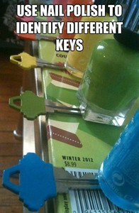 NAIL POLISH - to identify Keys