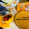"""MANGO CREAM CHEESE PIE!!<br /> <br /> I make this INCREDIBLE """"concoction"""" that I don't really have a """"recipe"""" for - I just create it based on what I'm hungry for, have the $$ for or have available.<br /> <br /> First I put some coconut oil in a pie dish (or whatever size YOU want to make it).<br /> <br /> Then I take a """"package"""" of some sort of cookie (however many you want depending on how thick YOU like it.  I like to use some sort of a coconut, butter cookies or graham cracker) & crush them up (I usually do it in my MagicBullet) & I take a stick of butter & melt it down & mix them together.<br /> SOMETIMES I put that in the oven at 325 or so for about 10-20 minutes (depends on how baked you want it to be).<br /> THIS BATCH I used a honey cracker & added some shredded coconut & coconut oil to the crust - YUMMMM!!!!<br /> <br /> Next in a separate bowl I fold in together some cream cheese (I like the container of soften cream cheese which I've left out for a bit so it's softer.  The size again - depends on how THICK with the filling YOU want) & Honey (AGAIN - how sweet do YOU want it to be??).  SOMETIMES I add an egg to help thicken it & if I do I bake it for about 20 minutes (I think).<br /> <br /> Next I cut up a BUNCH of OVERLY RIPE Mangoes (you know - the kind that most people would throw out as there were LOTS of black spots??!!!  To ME, THAT's the phase I LOVE to eat them in as they have an almost candy cane sort of taste!!  Mush up however thick YOU want it to be) & in a bowl I MUSH it up with my hands (I'm a VERY tactile child & LOVE it when it comes squirting out between my fingers - Oh & I LOVE to eat off the mango around the giant seed) & I just glump it onto the crust/mix & put it in the fridge & VUALA!!!!  I've had people that didn't normally like mangoes LOVE LOVE LOVE this LINGUASMO•TongueGasmic concoction!!!! <br /> <br /> Let me know how it worked for you!!!"""
