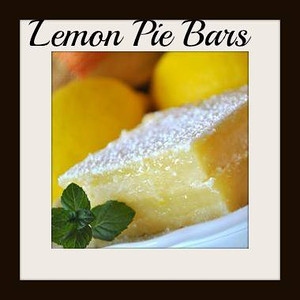 ***Lemon Pie Bars***~~  INGREDIENTS: 2 1/4 cups all-purpose flour 1/2 cup confectioners' sugar 1 cup butter, softened 4 eggs 1 1/2 cups white sugar 1/2 cup lemon juice 1 tablespoon lemon zest  DIRECTIONS: Preheat oven to 350 degrees F (175 degrees C).  Mix 2 cups of flour and confectioner's sugar together. Cut in the butter or margarine.  Mix well until the dough resembles pie dough consistency. Press the dough into a 9x13 inch baking pan.  Bake 15 to 20 minutes or until golden brown.  Beat together eggs, sugar, 4 tablespoons flour, lemon juice and lemon rind for at least 1 minute. Pour the mixture over the baked crust.  Bake the bars another 20 minutes, or until the lemon topping has set. Sprinkle with confectioner's sugar when cooled. .