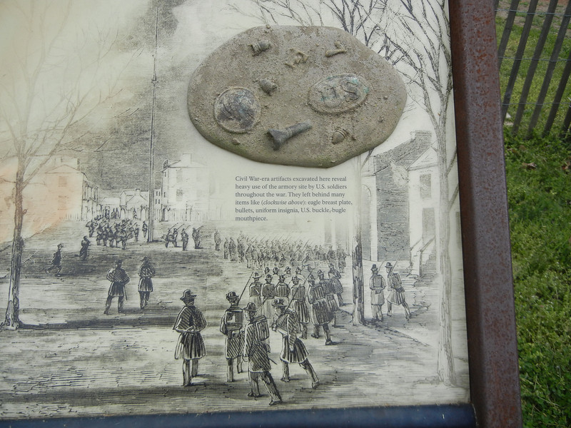 Artifacts found on Harpers Ferry grounds.
