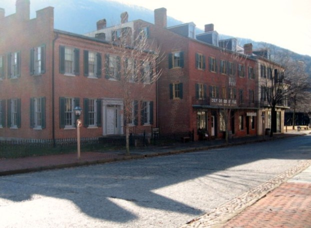 Downtown Harpers Ferry, West Virginia.