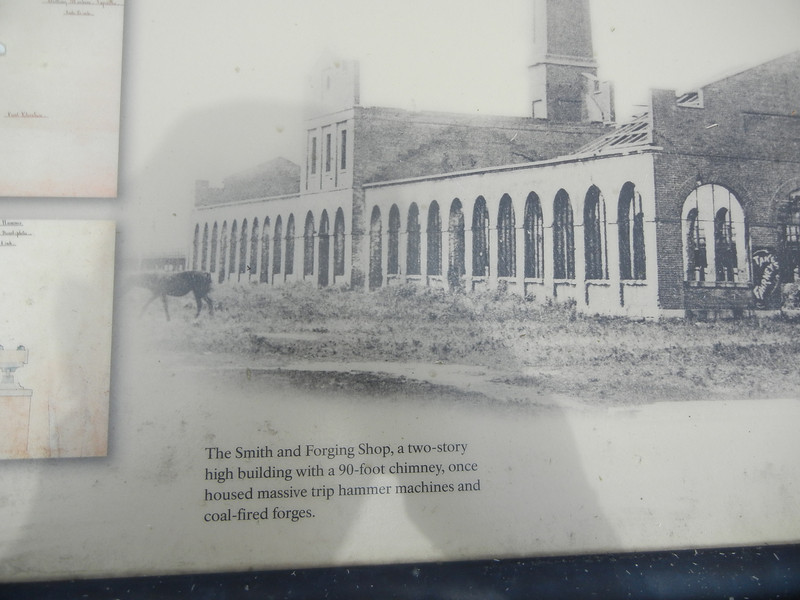Rare photograph of one of the Harpers Ferry factories.