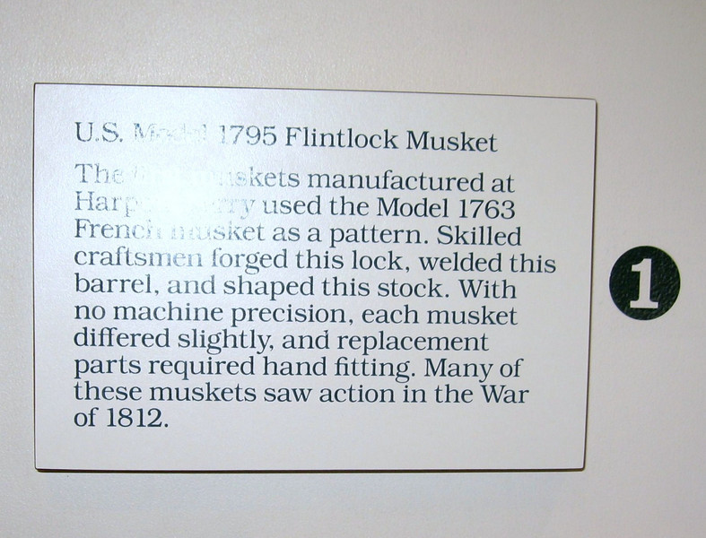 1795 Flint Lock Musket - Manufactured in the same era as the Lewis and Clark Expedition.