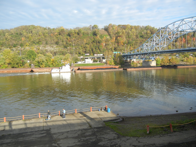 The actual site of the keelboat construction is unknown.  But the actual site would have been not more than a few hundred yards north or south of this main local dock in Elizabeth, PA.