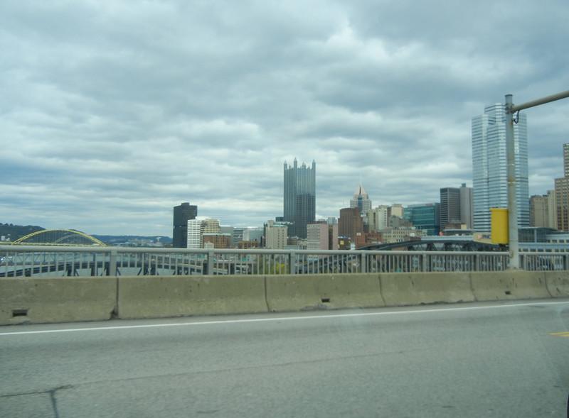 Leaving Elizabeth heading north through downtown Pittsburg, PA.