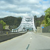 The bridge over the Monongahela River leads into Elizabeth, Pennsylvania
