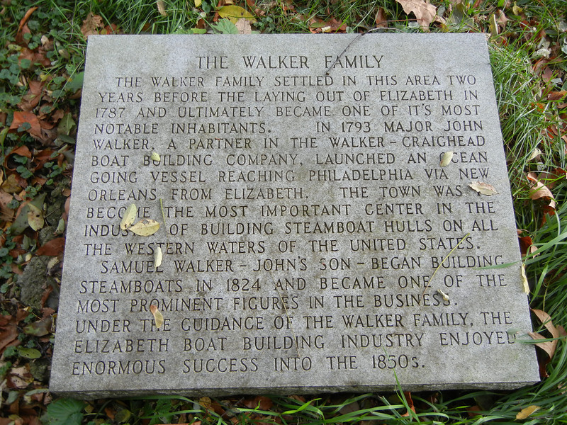 This marker provides an interesting summary of the history of the Walker family's influence of the boat building that began in Elizabeth, PA.