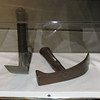 "The ""adzes"" was a critical tool for the Expedition.  It was similar to a hoe but was used to chop and shape wood, such as dugout canoes and probably furniture and logs for cabins. The 5 to 10 inch handle made use of the tool quite dangerous as Private Shannon discovered when almost cutting his foot off when digging out a canoe. The Captains feared Shannon might loose his foot due to such severe blood loss."