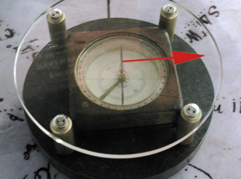 "The Captains also used a ""compass"" in navigation.  The above is a typical compass of their era."