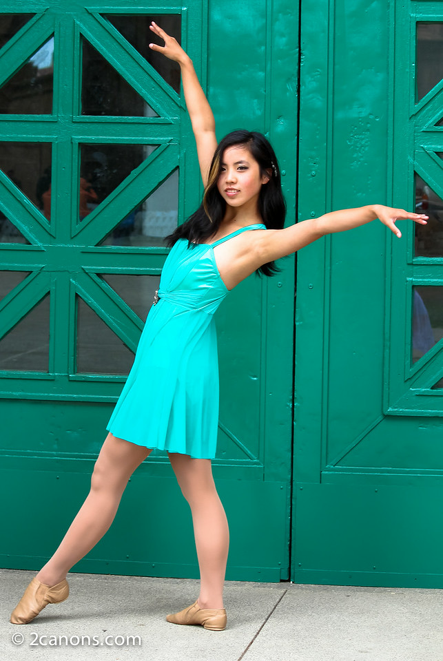 Ballerina in a Green Dress