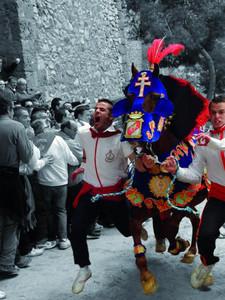 ¡Caballo en carrera! Caballo en carrera. Fiestas de los Caballos del Vino, Caravaca de la Cruz, 2 de mayo de 2011  Autor:JUAN PEREZ DE LEMA