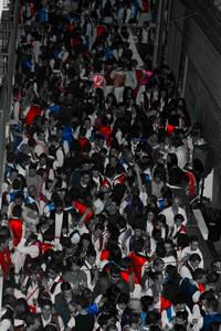 Chalecos. Bando de la Huerta, 10 de la noche ¡Momento algido!.  Autor:Ignacio Perez Bayona