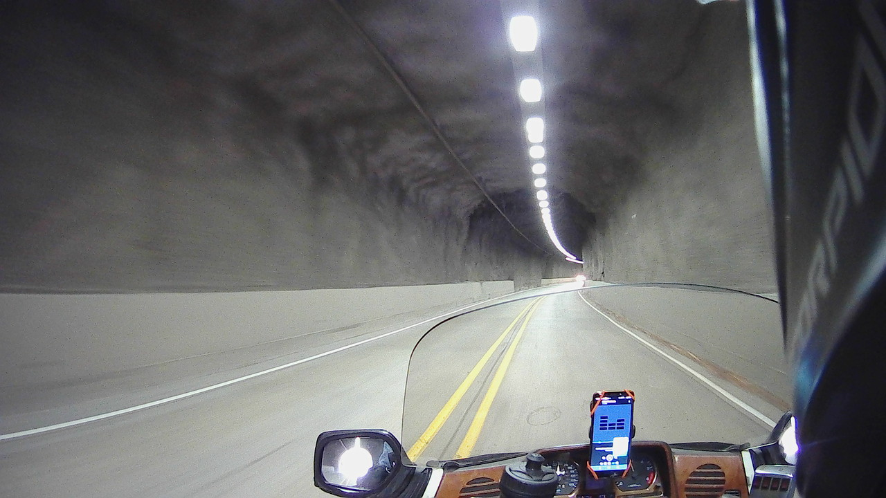 motorcycle riding in tunnel pov