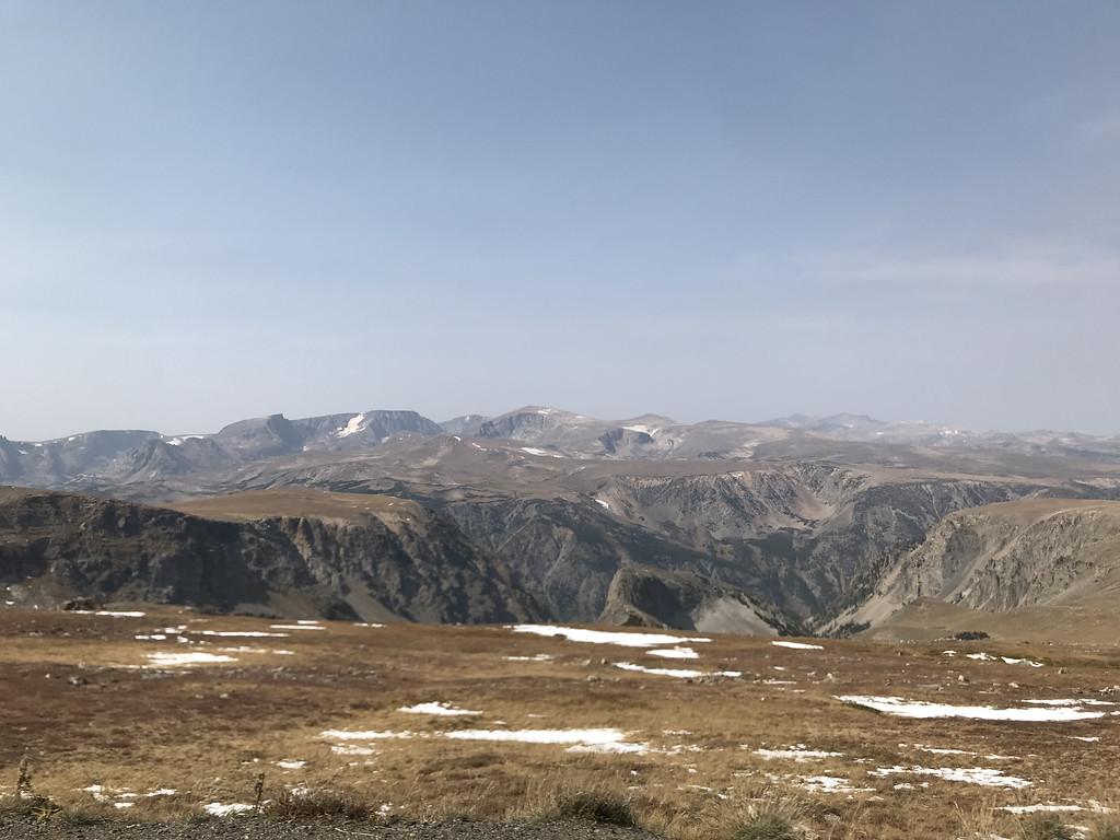 mountains and snow beartooth pass montana